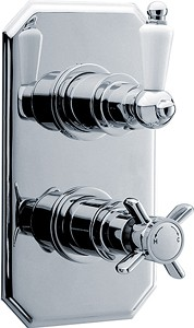 Ultra Beaumont Traditional Twin Concealed Thermostatic Shower Valve.