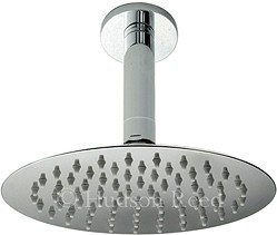 Component Ultra Thin Round Shower Head & Ceiling Arm. 200mm.