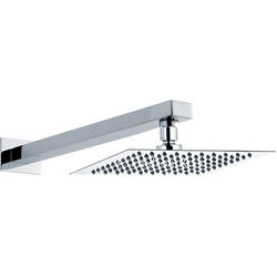 Component Ultra Thin Square Shower Head & Wall Mounting Arm. 200mm.