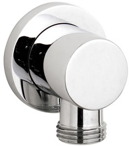 Component Minimalist outlet elbow in chrome