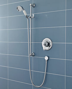 Ultra Showers Sequential Thermostatic Shower Valve & Slide Rail Kit (Chrome).