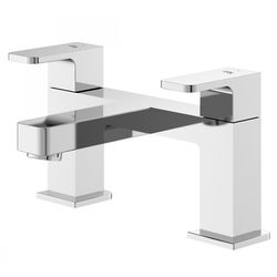 HR Astra Bath Filler Tap With Lever Handles (Chrome).