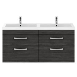 Nuie Furniture Wall Vanity Unit With 4 x Drawers & Double Basin (Hacienda).