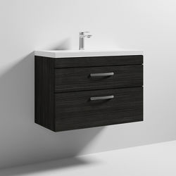 Nuie Furniture Wall Vanity Unit With 2 x Drawer & Basin 800mm (Hacienda).