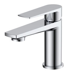 Nuie Bailey Basin Mixer Tap With Push Button Waste (Chrome).