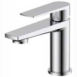 Nuie Bailey Mini Basin Mixer Tap With Push Button Waste (Chrome).