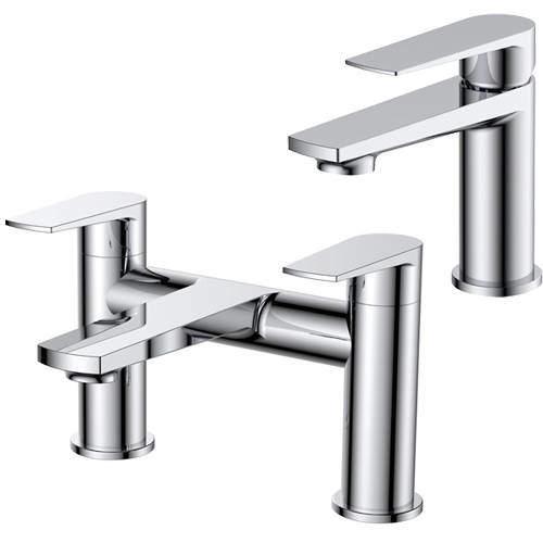 Nuie Bailey Basin & Bath Filler Tap Pack (Chrome).