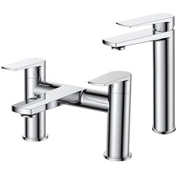 Nuie Bailey Tall Basin & Bath Filler Tap Pack (Chrome).