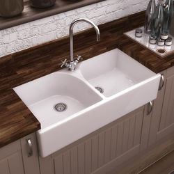 Ultra Butler Sinks Athlone Double Butler Sink 220x795x500mm (1 Hole).