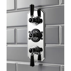 Hudson Reed Topaz Thermostatic Shower Valve With Black Handles (2 Way).