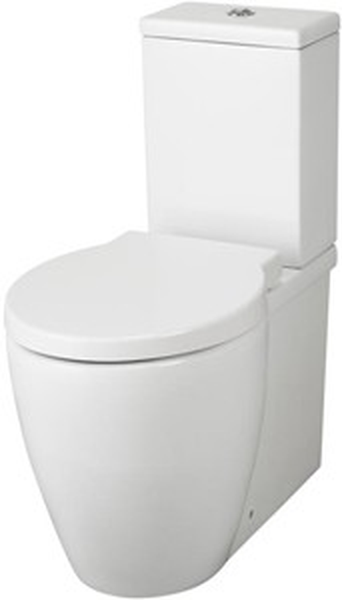 Hudson Reed Ceramics Flush To Wall Toilet Pan, Cistern & Soft Close Seat.