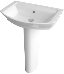 Ultra Alton Basin & Full Pedestal (1 Tap Hole, 550mm).