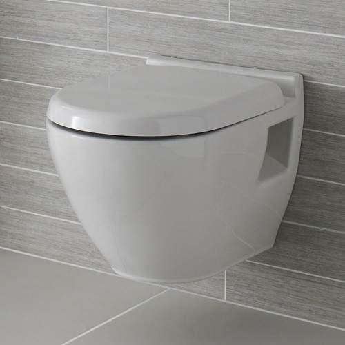 Ultra Jardine Round Wall Hung Toilet Pan & Soft Close Seat.
