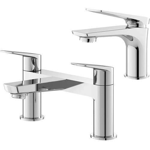 HR Drift Mono Basin & Bath Filler Tap Pack (Chrome).