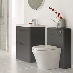 Premier Eclipse 800mm Vanity Unit Pack 2 (Grey Woodgrain).