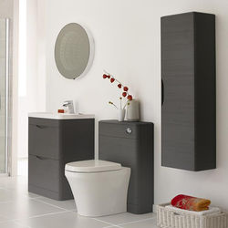 Premier Eclipse 600mm Vanity Unit Pack 3 (Grey Woodgrain).