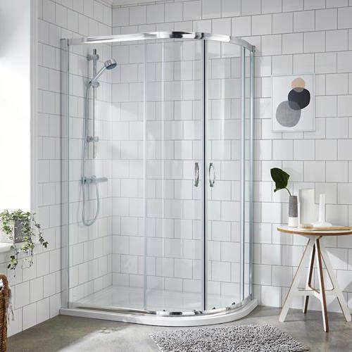 Premier Enclosures Offset Quadrant Shower Enclosure (RH, 1200x800).