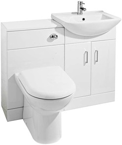 Ultra Furniture Madison Furniture Pack With Basin, Pan & Seat (White).