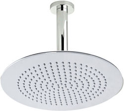 Component Round Shower Head With Ceiling Mounting Arm (300mm).
