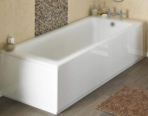 Crown Bath Panels Side & End Bath Panel Pack (Gloss White, 1700x700).