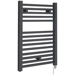 Hudson Reed Radiators Electric Towel Rail 500W x 690H mm (Anthracite).