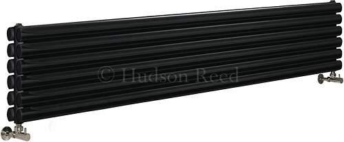 Hudson Reed Radiators Revive Radiator (Black). 1800x354mm. 5786 BTU.