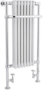 HR Traditional Tall Marquis Towel Radiator. 1130x553 (Chrome).