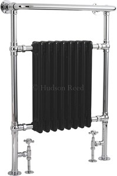 HR Traditional Marquis Heated Towel Rail (Chrome & Black). 675x960mm.