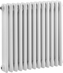 Ultra Colosseum 3 Column Radiator (White). 606x600mm.