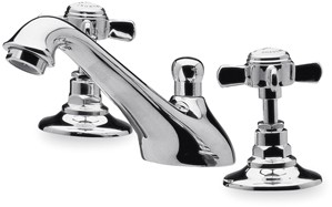 Ultra Beaumont 3 Tap Hole Basin Mixer + free Pop-up Waste (Chrome)