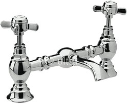 Ultra Beaumont Luxury 200mm Bridged Basin Mixer (Chrome)