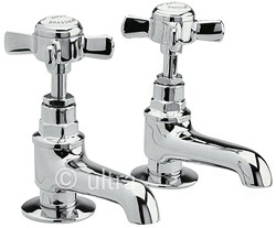 Ultra Beaumont Long Nose Basin taps (Pair, Chrome)