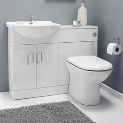 Italia Furniture Vanity Pack With Pan & Square Basin 1050mm (LH, White).
