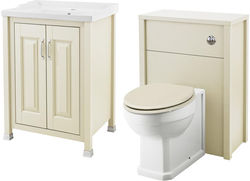 Old London Furniture 600mm Vanity & 600mm WC Unit Pack (Ivory).