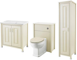 Old London Furniture 800mm Vanity, 600mm WC & Tall Unit Pack (Ivory).