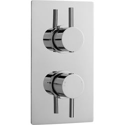 Nuie Showers Pioneer Thermostatic Shower Valve With Brass Trim (2 Outlets).