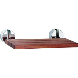 Hudson Reed Tec Folding shower seat with chrome hinges