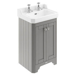 Old London Furniture Vanity Unit With Basins 560mm (Grey, 2TH).