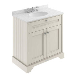 Old London Furniture Vanity Unit, Basin & Grey Marble 800mm (Sand, 3TH).