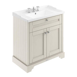 Old London Furniture Vanity Unit With Basins 800mm (Sand, 3TH).