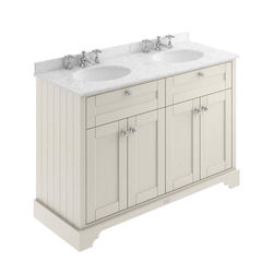 Old London Furniture Vanity Unit With 2 Basins & Grey Marble (Sand, 3TH).