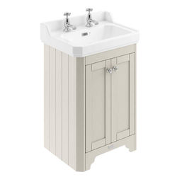 Old London Furniture Vanity Unit With Basins 595mm (Sand, 2TH).