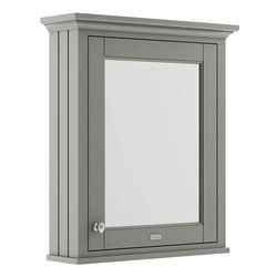 Old London Furniture Mirror Bathroom Cabinet 600mm (Storm Grey).