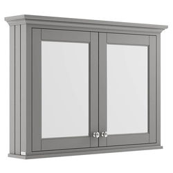 Old London Furniture Mirror Bathroom Cabinet 1050mm (Storm Grey).