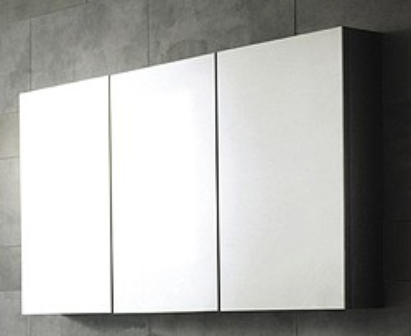 Hudson Reed Quartet 3 Door Mirror Bathroom Cabinet 1350x700x150mm