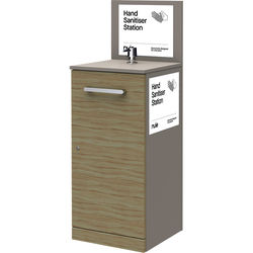 Nuie Sanitise 1 x Floor Standing Hand Sanitiser Station & Pump Dispenser.