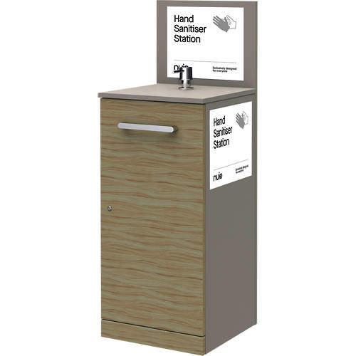 Nuie Sanitise 6 x Floor Standing Hand Sanitiser Stations & Pump Dispenser.