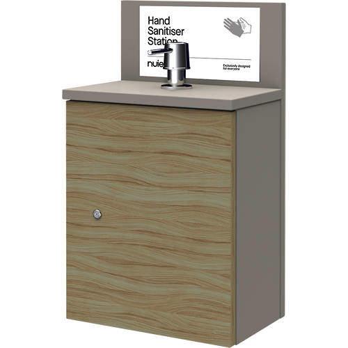 Nuie Sanitise 8 x Wall Mounted Hand Sanitiser Stations & Pump Dispenser.