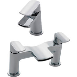 Nuie Mona Waterfall Basin & Bath Filler Tap Pack (Chrome).