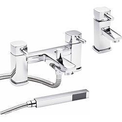 Nuie Munro Basin & Bath Shower Mixer Tap Pack (Chrome).